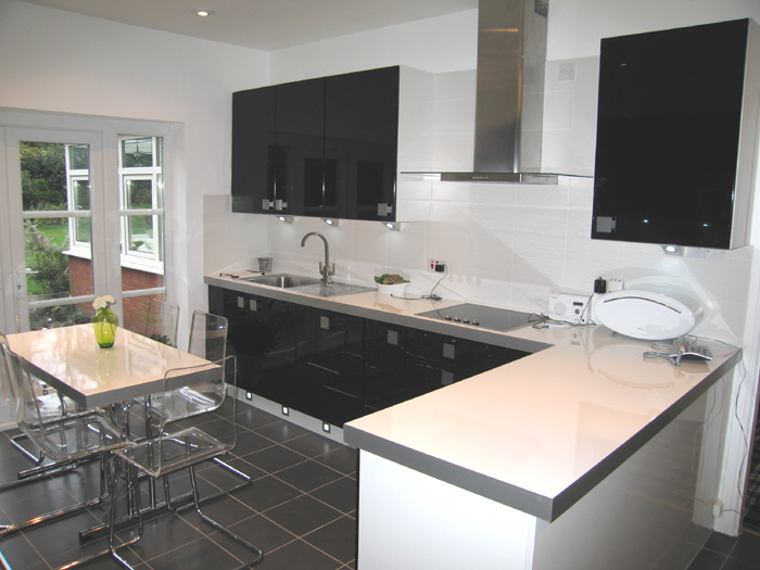 Gloss Kitchens Various Colours - Grey and white gloss kitchen