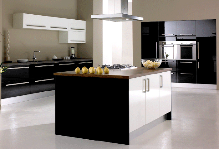 black white high gloss kitchen 2 white high gloss doors